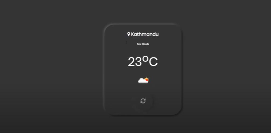 Weather Display Design