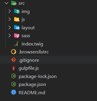 gulp starter folder structure